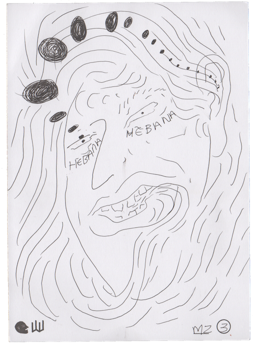 Marta Zenka's writing/illustration in response to the third part of at first sight
