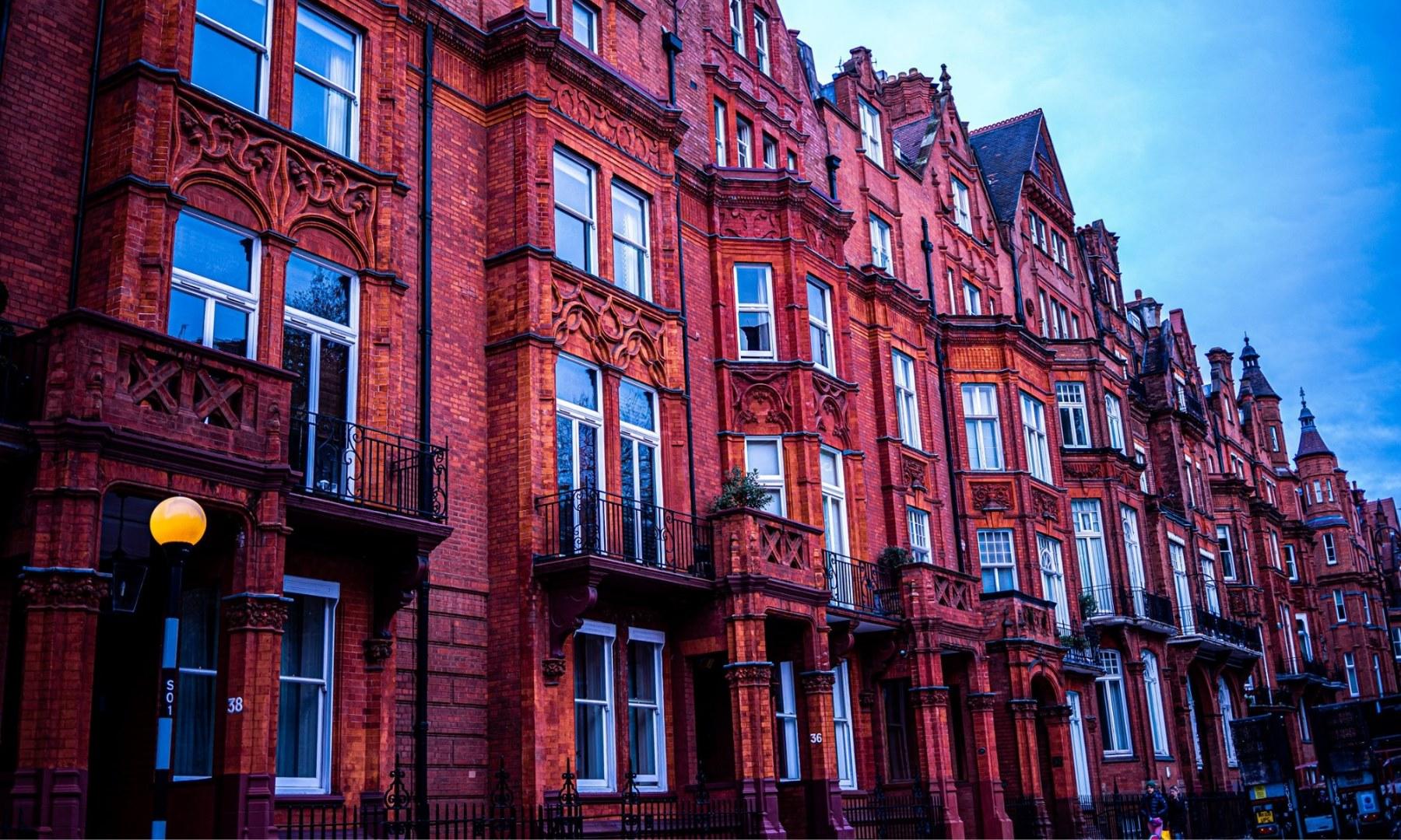 Pont Street block in Chelsea, West London