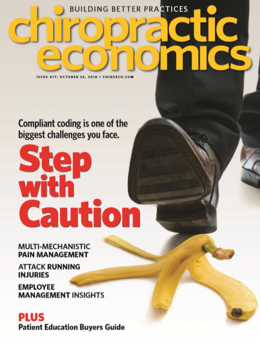 Chiropractic Economics Magazine Cover
