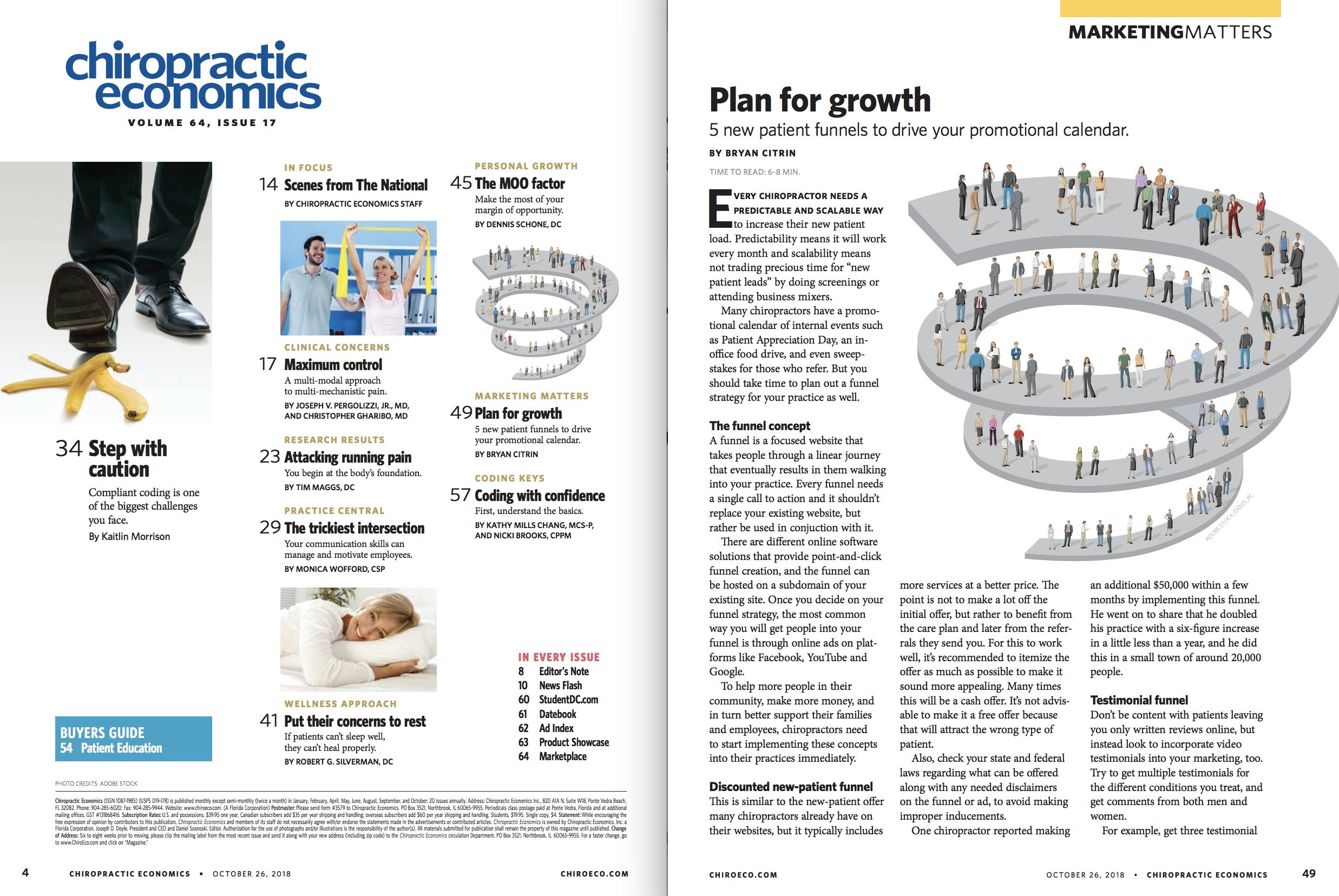 Chiropractic Economics Page 49 Spread