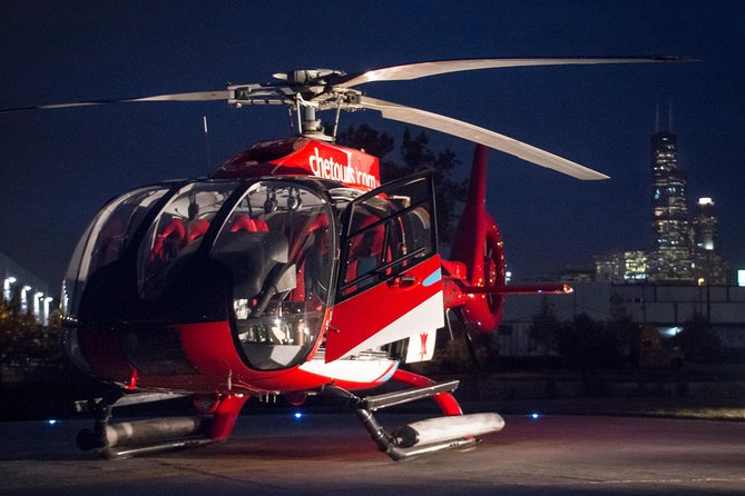 take a nighttime helicopter tour of chicago