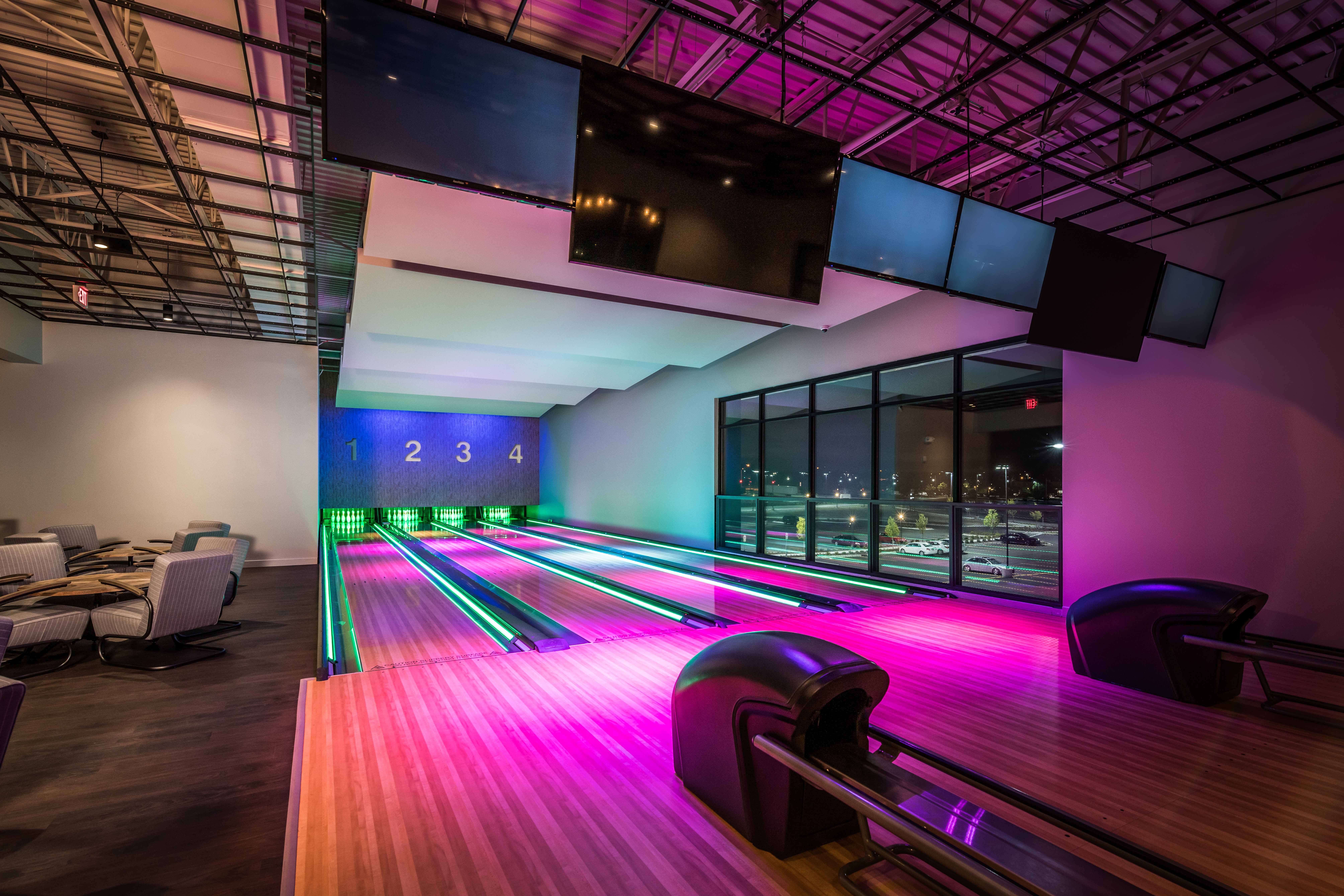 Bowling Alley with Lights