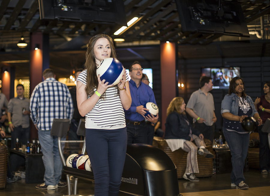 Bowling at WhirlyBall