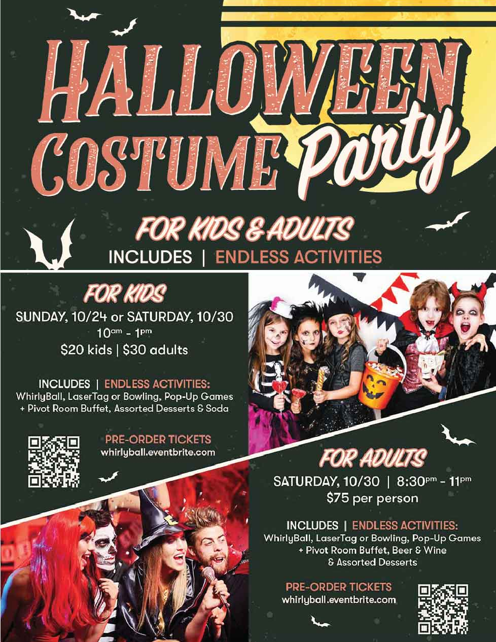 Halloween Costume Party at WhirlyBall