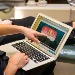digital image of dental crown