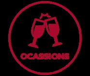 occasion icons - birthday, anniversary, engagement