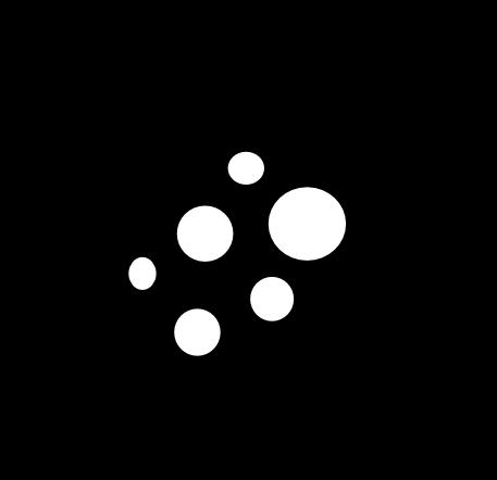 Black outline mould spore symbol