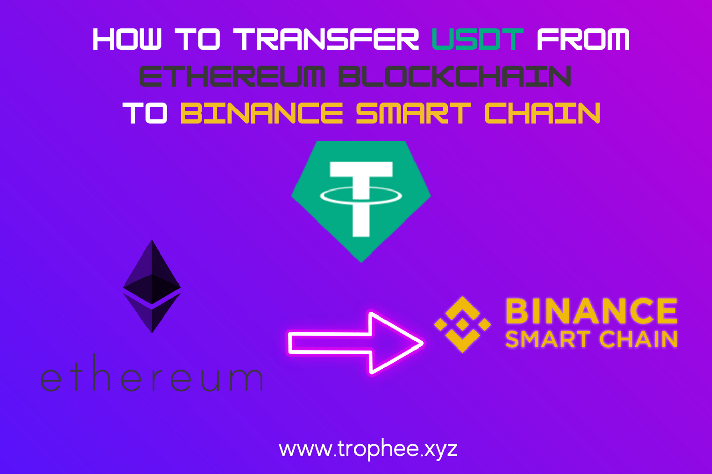 How to transfer USDT from Ethereum Blockchain to Binance Smart Chain