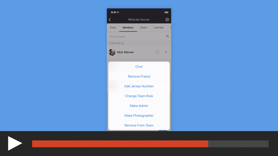 Make Team/Group Members an Admin or Photographer in the sportsYou App