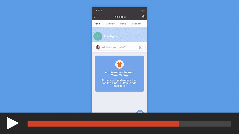 Setup a Team or Group in the sportsYou App