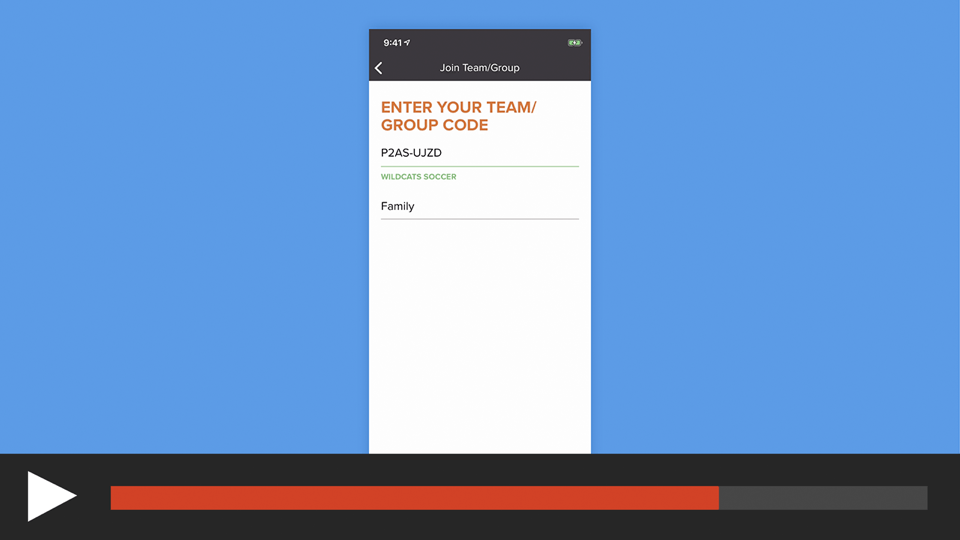 Join a Team/Group in the sportsYou App