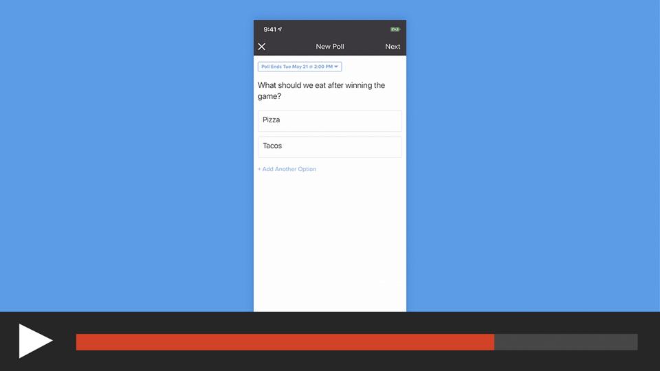 Create a Poll in the App