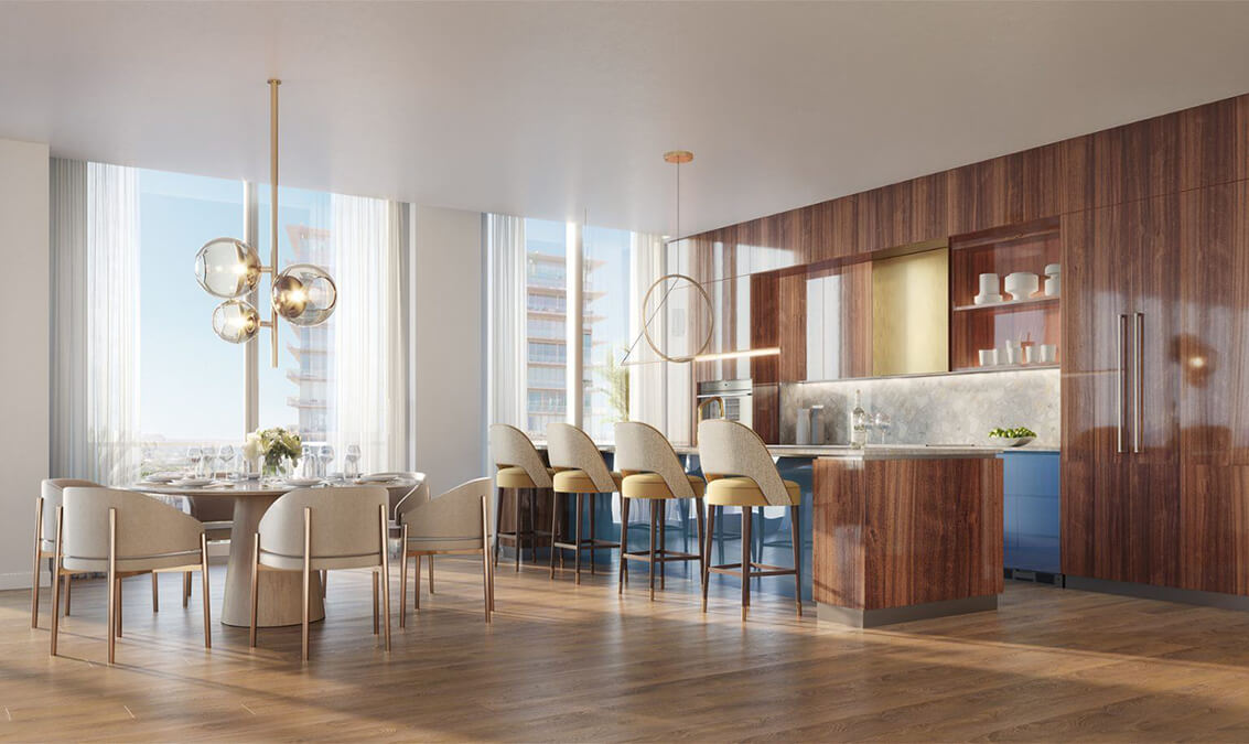 Interior design details of the luxury condos at Mr.C Residences.