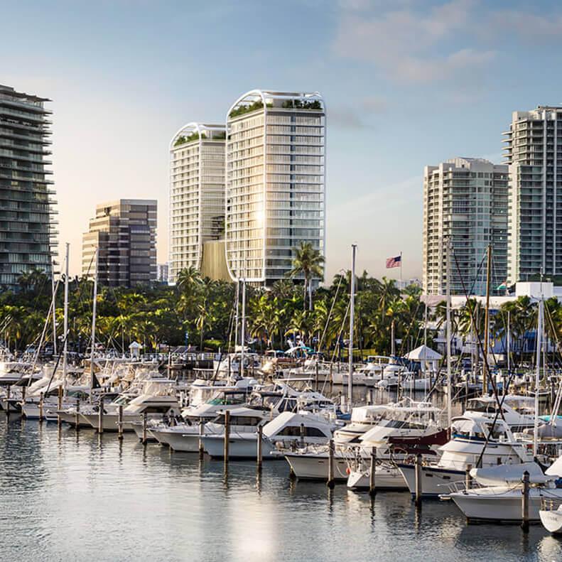 Mr.C Residences location in Coconut Grove, Miami.