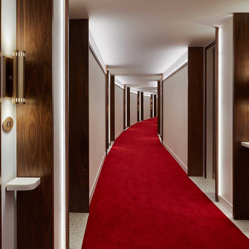 Interior design details of the TWA Hotel.