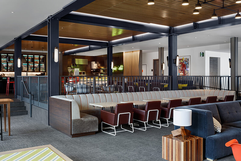 Interior design details of the Limelight Snowmass.
