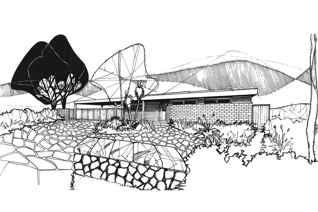 Architect sketch designs.