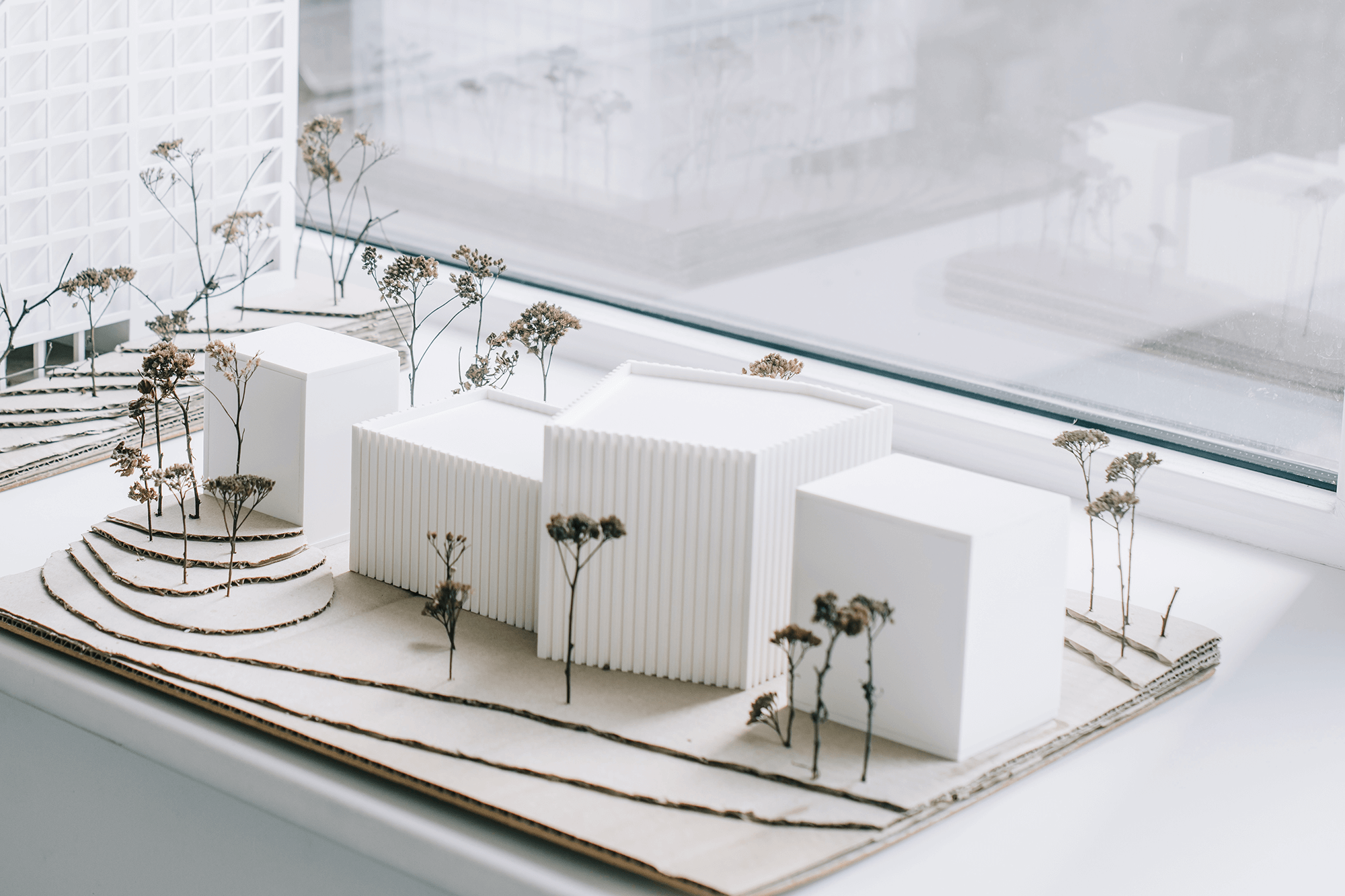 Architecture model of modern buildings.