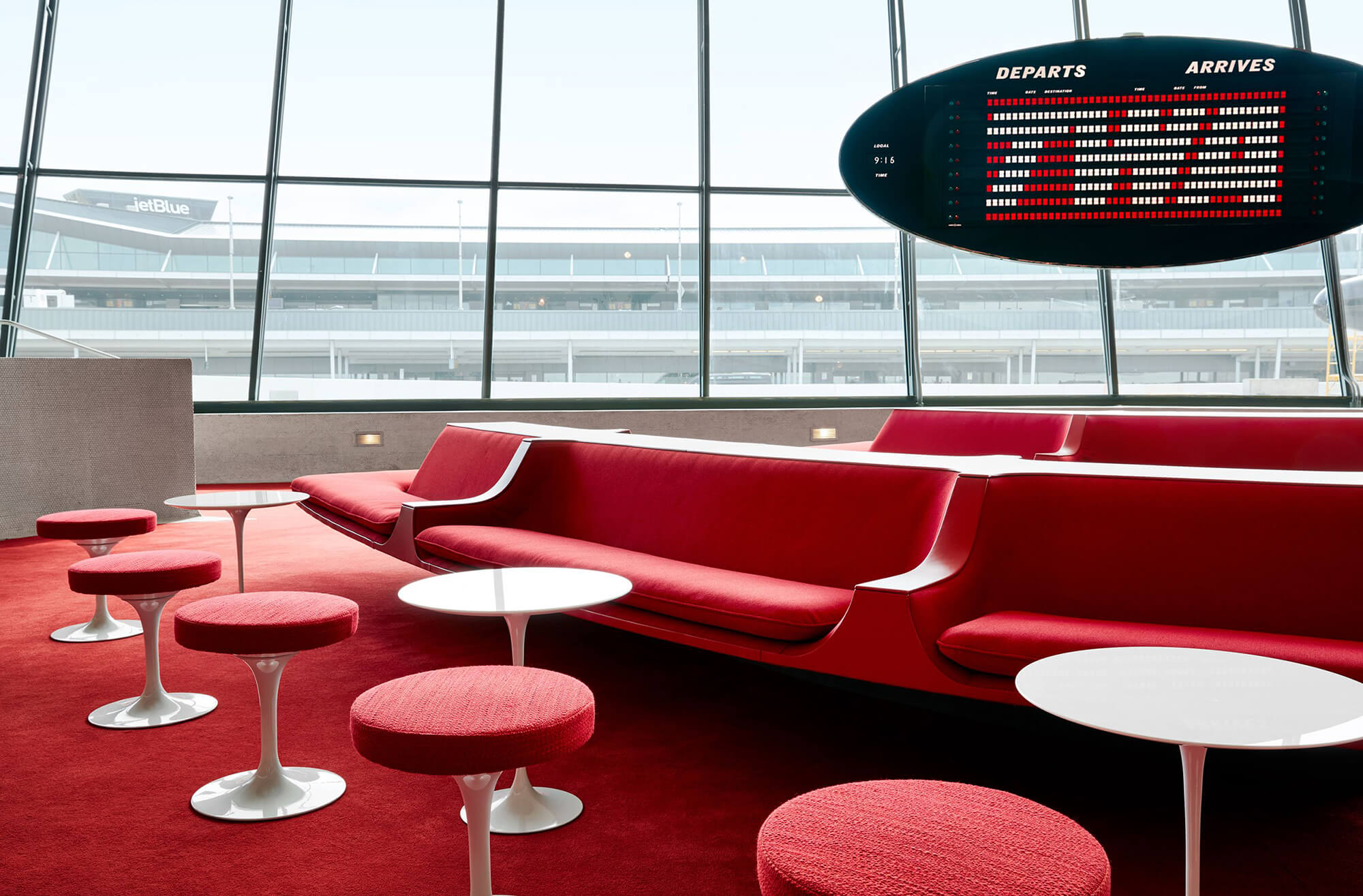 The iconic Sunken Lounge at the TWA Hotel.