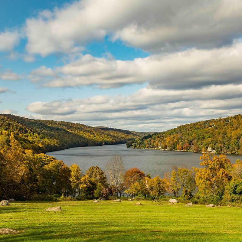 Picturesque Connecticut landscape.