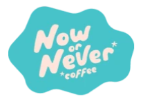 Now or Never logo on btwn