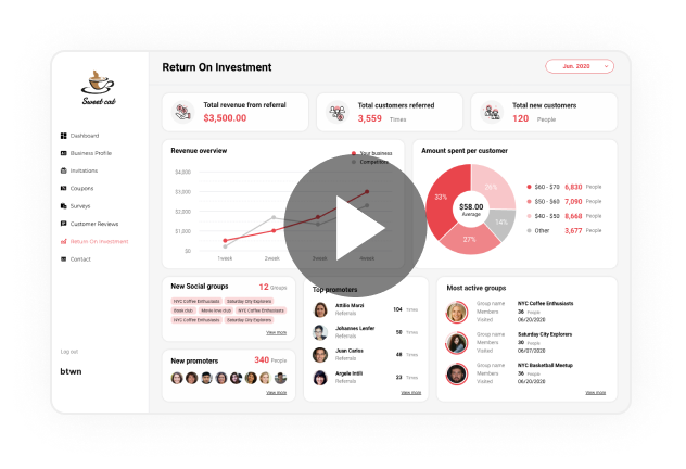 Video Tutorials Watch how you can gain insight and engage with your customers with btwn.