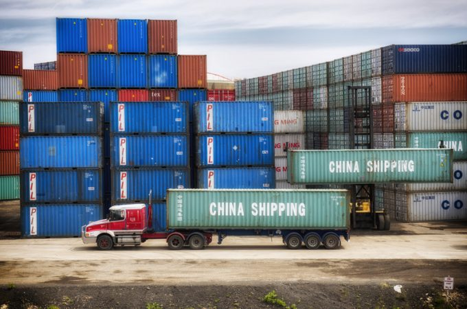 This week's top news in logistics: Ocean Container Shortages in Trans-Pacific, Beijing bans more Australian products, Amazon opens air cargo hub in Europe, post-pandemic rebound slows for Alibaba, and Volvo announces heavy-duty electric truck line.