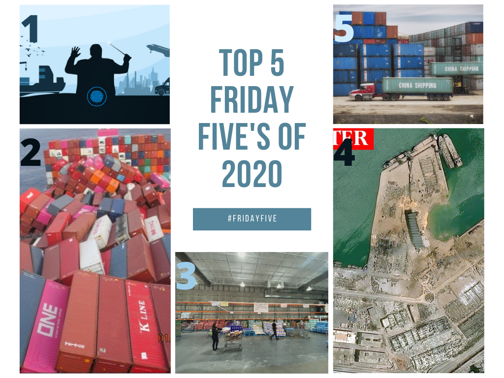 As we say goodbye to 2020, for this first Friday Five of 2021, we take a look back at the biggest supply chain moments and best logistics reads from a year like no other. Check out which stories made our Top 5 from 2020.