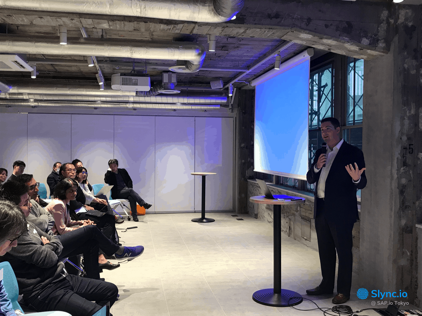 Slync CEO Chris Kirchner was in Tokyo this week to meet press, speak with startups and participate in customer discussions at the SAP.iO Foundry—a Tokyo ecosystem engagement event