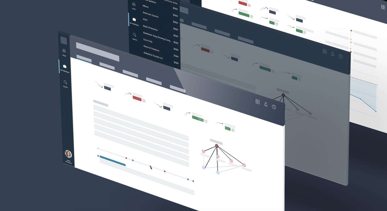 Mockup of Capital One dashboard designs on web platform