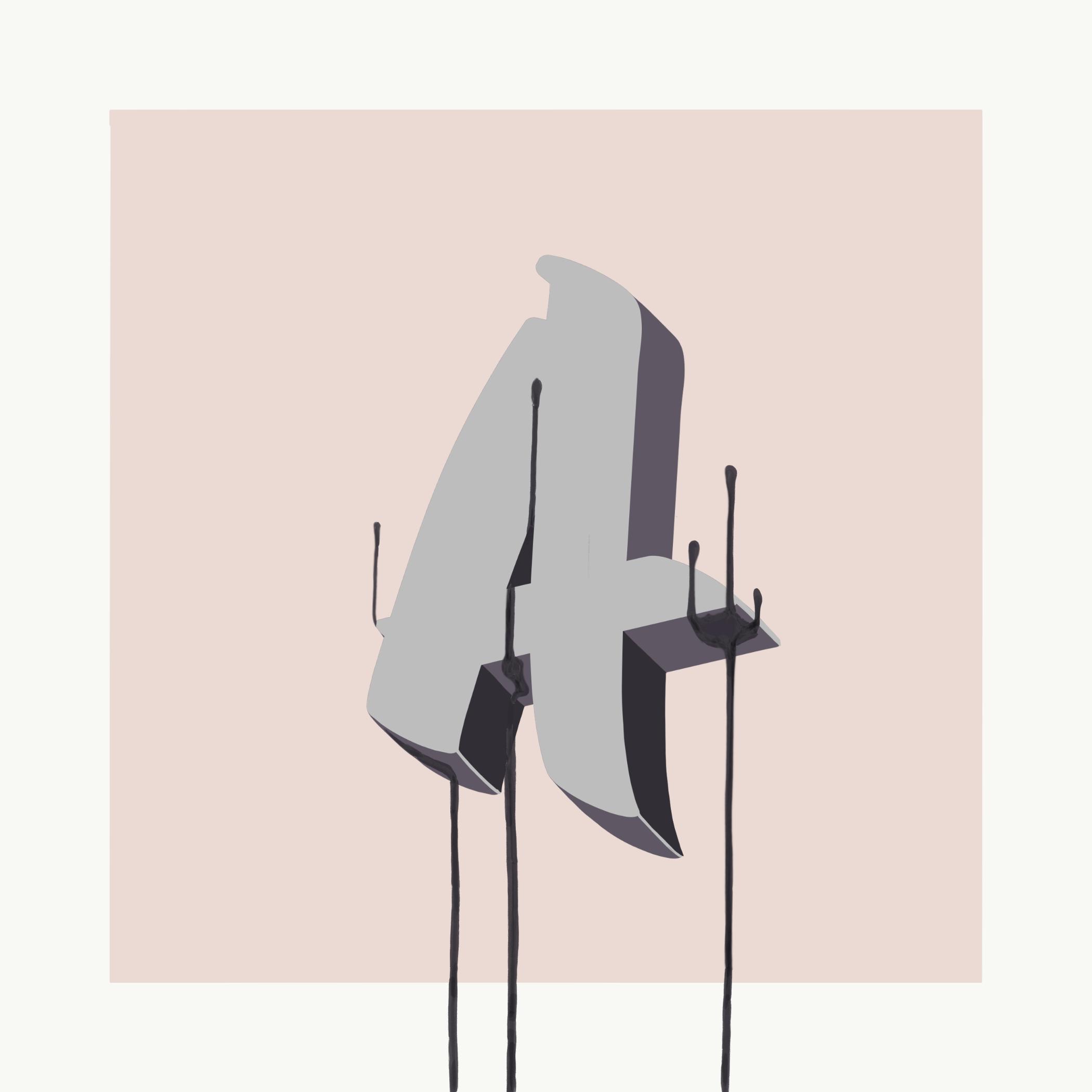 """Lettering illustration of a 3d letter """"A"""""""