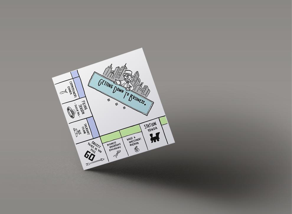 Mockup of financial-themed illustration