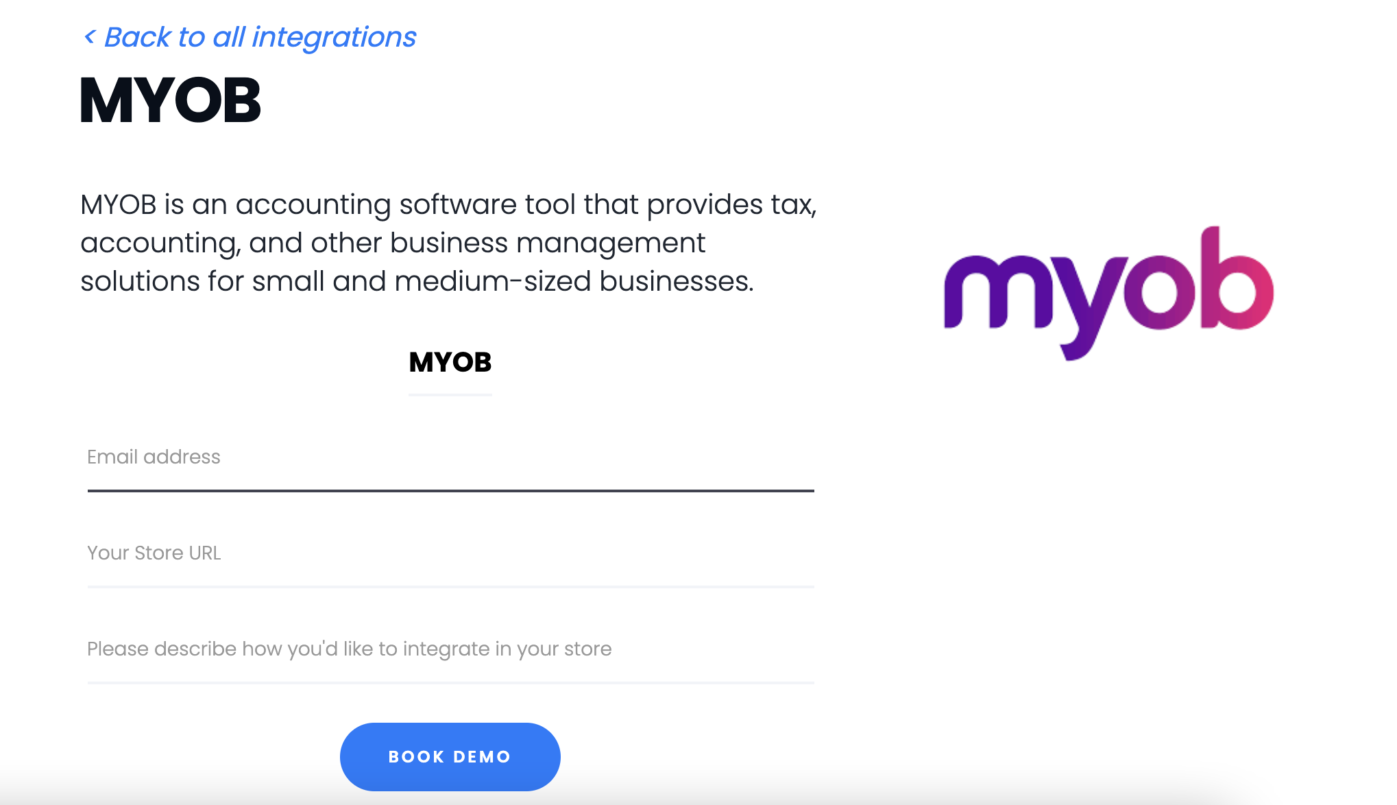 MYOB Integration Using Shypyard