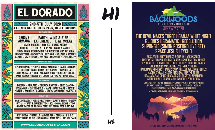 Two music festival posters