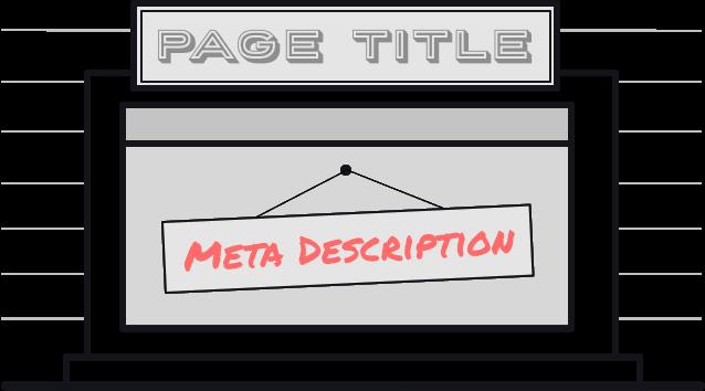 Meta Descriptions can be seen as signs in shop windows