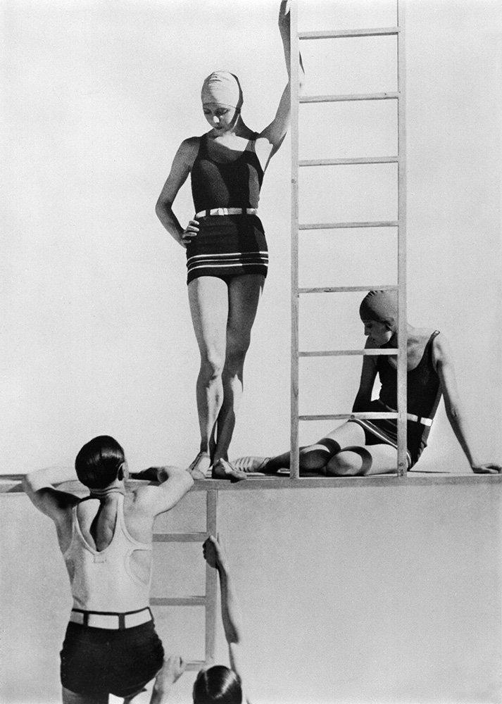 Georgia Graves, swimwear by Lelong, Paris, 1929