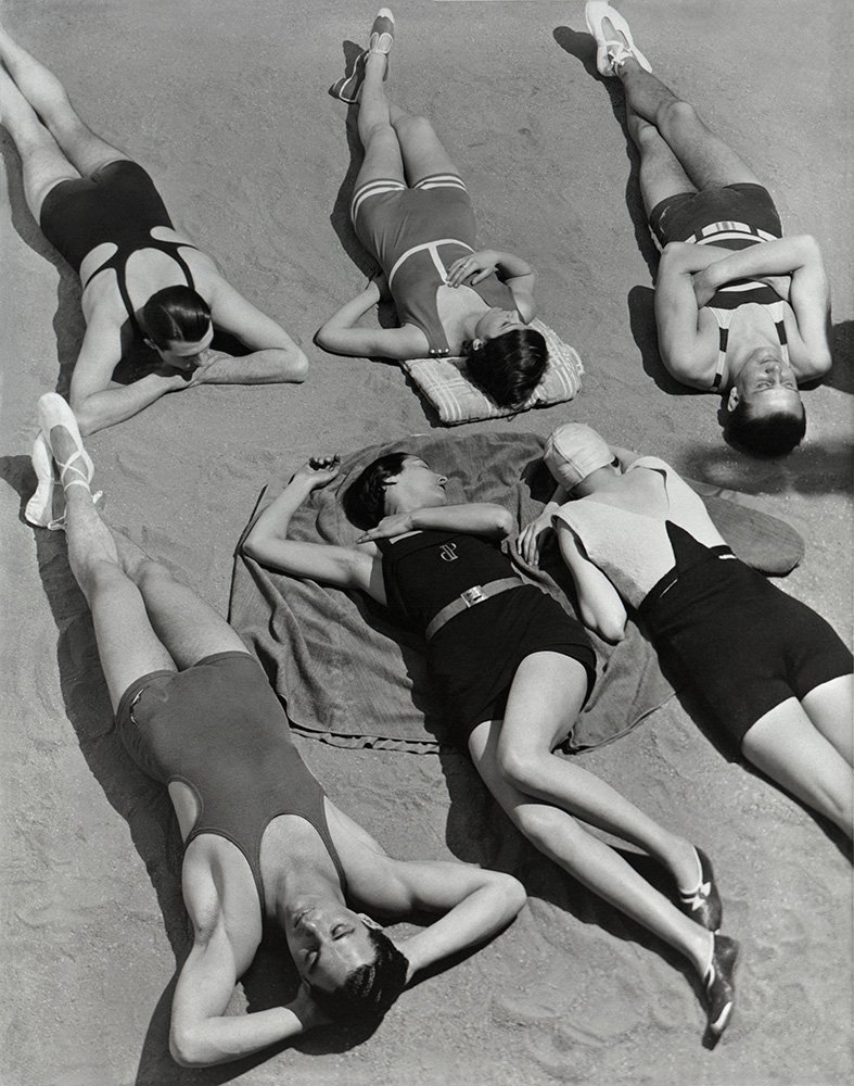 Swimwear by Patou, Molyneux and Yrande, 1930