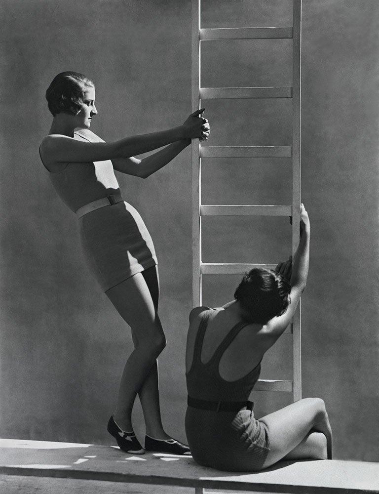 Helen Wedderburn and Agneta Fischer, swimwear by Spalding, 1930