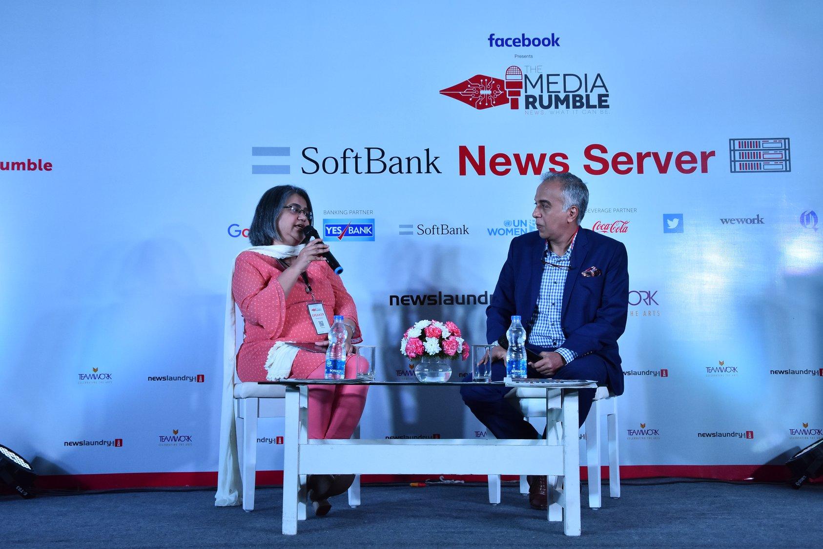 Roopa Kudva of Omidyar Network and Suresh Venkat