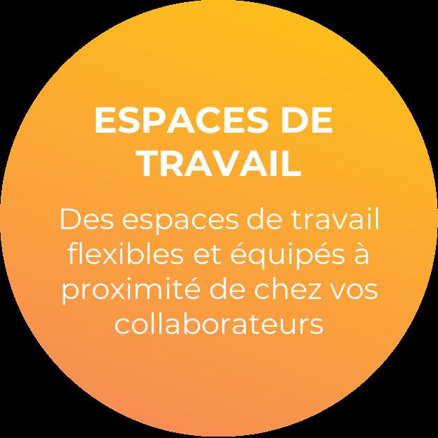Image de la 2ème offre : offre d'espaces de travail. Des espaces de travail flexibles, équipés, à proximité de chez vos collaborateurs.