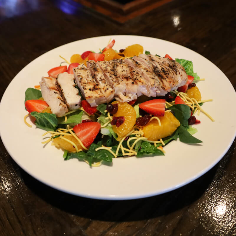 Caribbean Chicken Salad on bar