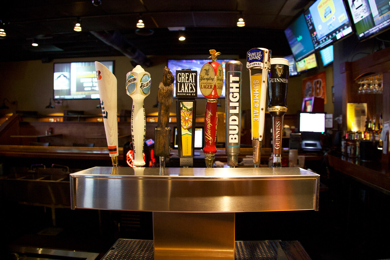 Blue Goose Sports Cafe bar taps large
