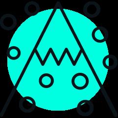 snowy mountain icon