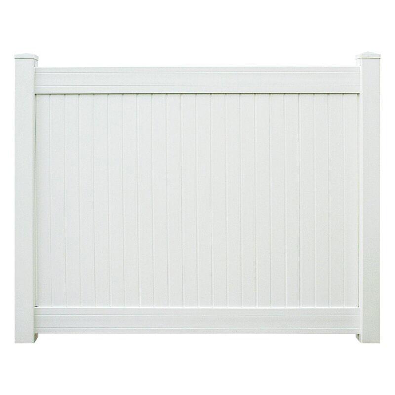 Vinyl Window Wells white vinyl fence