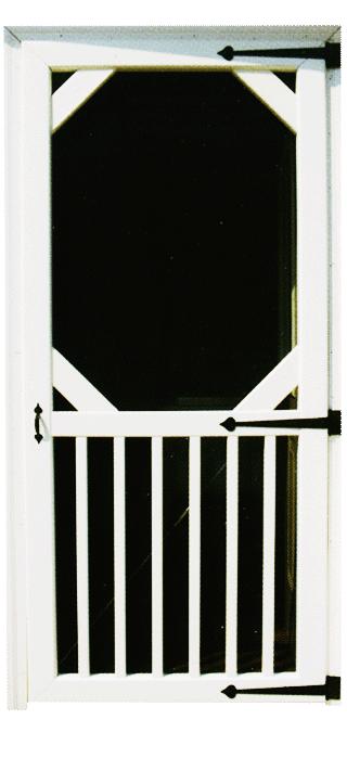 Vinyl Window Wells Country Home Screen Door