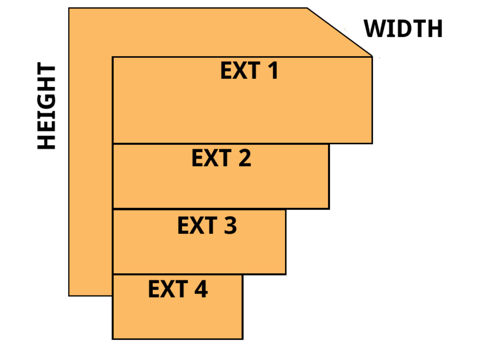70 inch stack it window well illustration