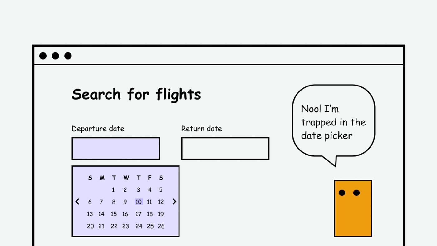 Getting trapped in the calendar date picker