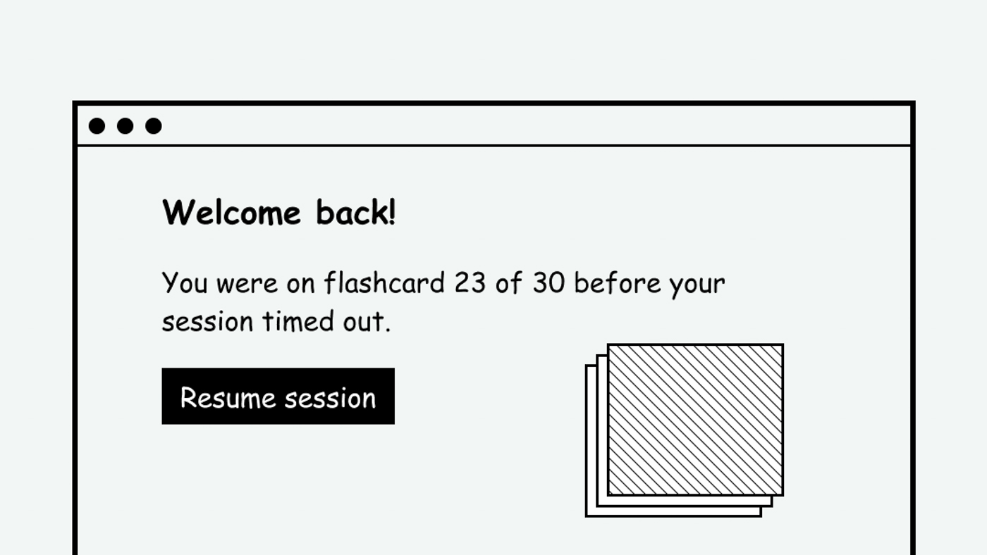 A website that allows users to retain unsaved data after logging back in