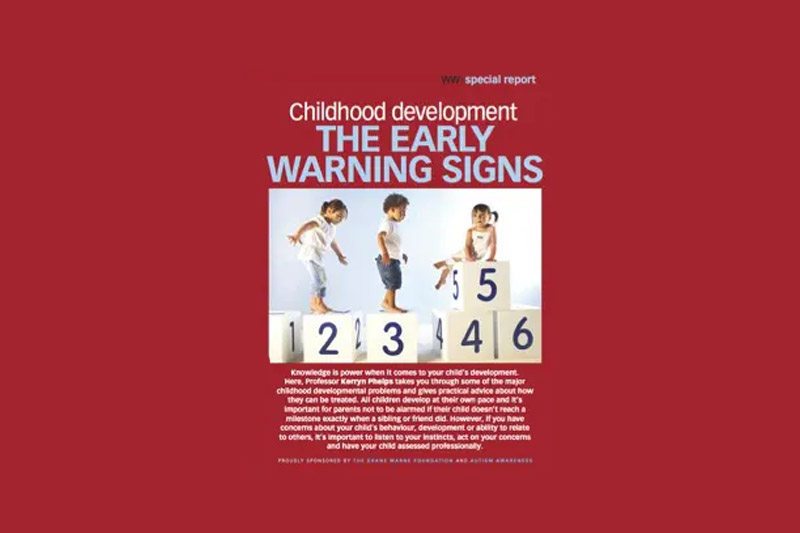 cover of early warning signs booklet