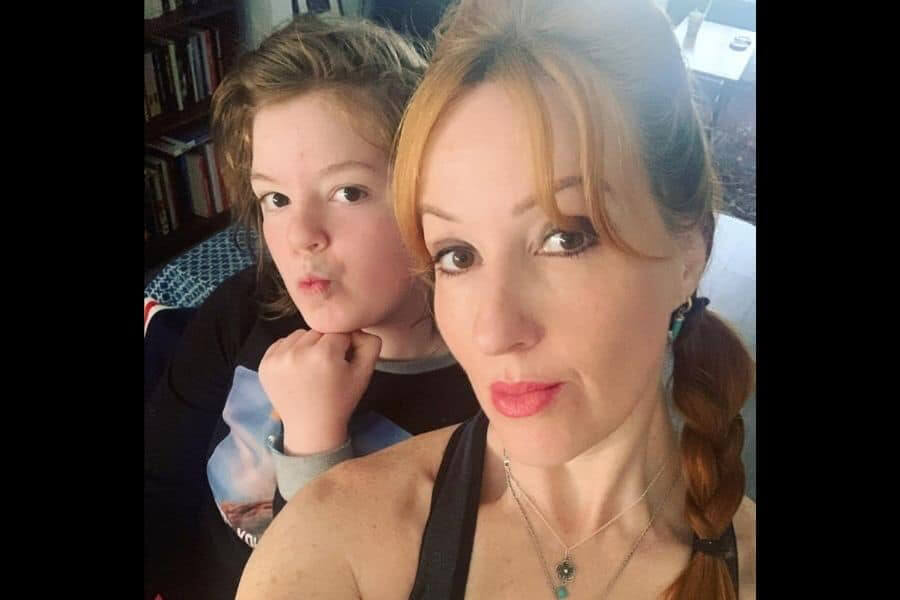 Selfie of mum with daughter